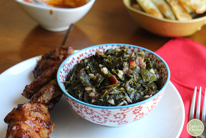 Smokey Sweet Vegan Collard Greens, an easy side dish!