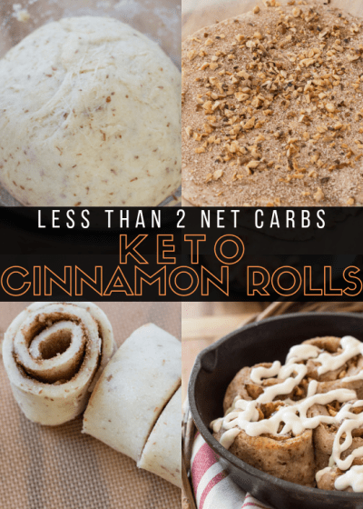 Sweet and sticky gluten free Keto Cinnamon Rolls packed with cinnamon and pecans! Less than 2 net carbs per roll!