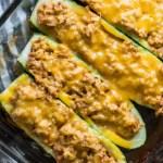 Keto Cheeseburger Zucchini Boats