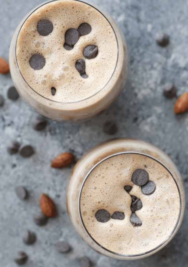 Almond Butter Frappuccino (keto + low carb)