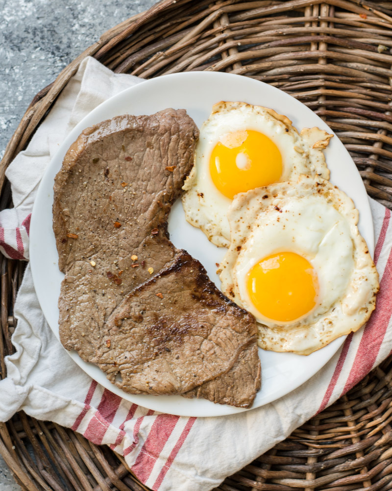You will want to add these Steak and Eggs to your weekly menu! This keto meal is super low carb, packed with protein and contains only 3 real ingredients! #keto