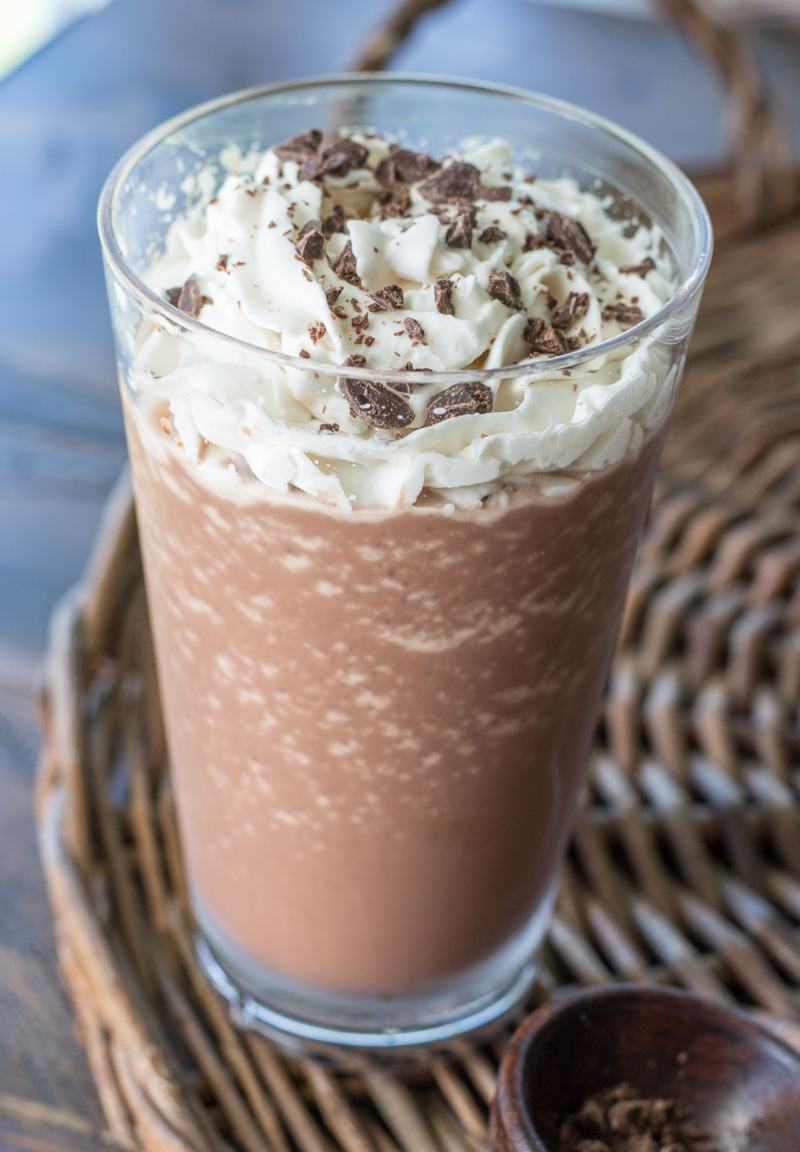 You won't believe how delicious this low carb Keto Mocha Frappuccino is! At just 3.7 net carbs this keto Starbucks knockoff will be a new favorite! #keto