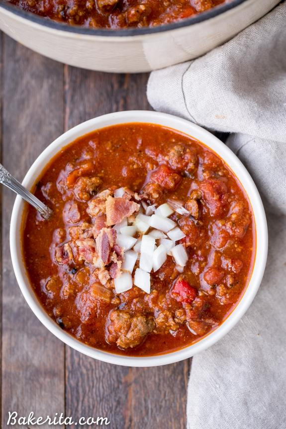 Paleo and Low Carb Chili