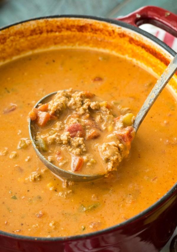 Cheesy Keto Taco Soup