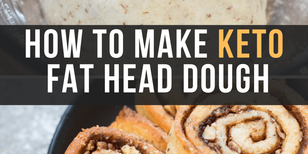Learn how to make Keto Fat Head Dough perfect for keto pizzas, cinnamon rolls and more! This step by step tutorial will show you exactly how to make a crispy, delicious low carb crust!  #keto