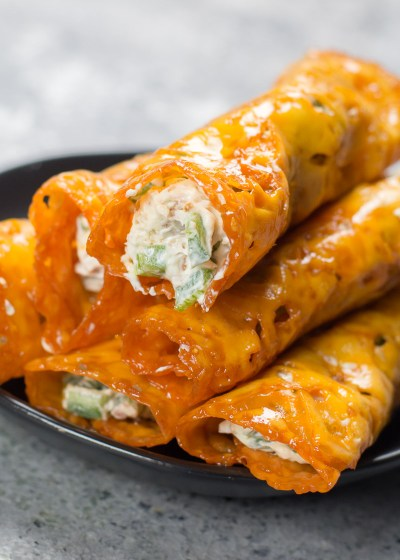 These Keto Jalapeño Popper Taquitos are loaded with fresh jalapeños and bacon! This is the easiest keto appetizer ever and under three net carbs per serving!