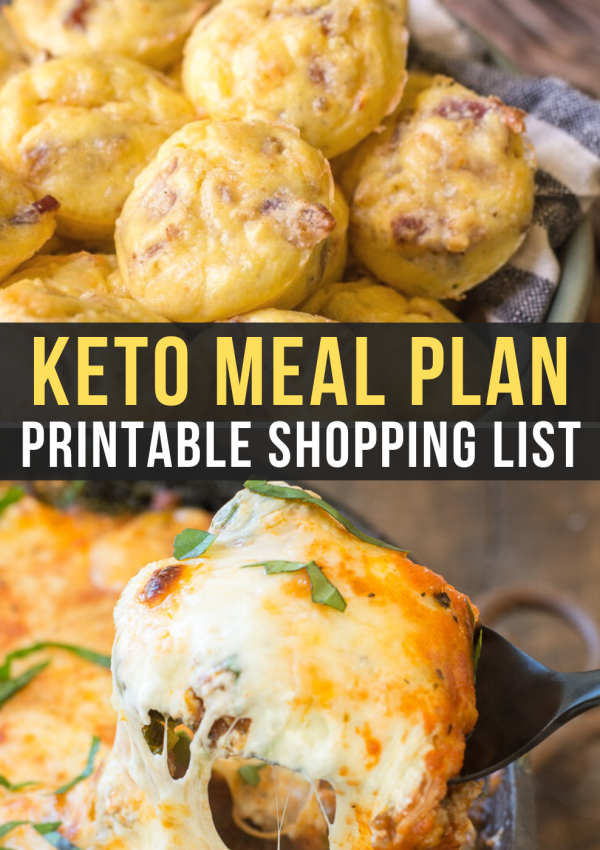 Easy Keto Meal Plan with Printable Shopping List (Week 2)