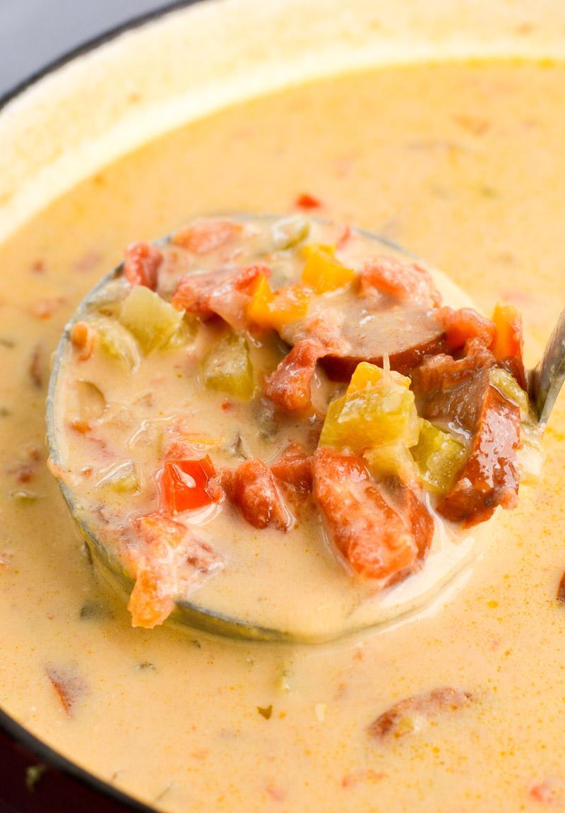 Cheesy Sausage Soup