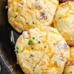 Keto Bacon Cheddar Chive Biscuits