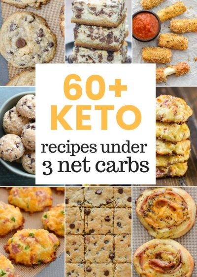 Looking for easy low-carb snacks to keep you on track and make keto meal prep simple? Check out these 60+ Keto Snacks (all under 3 net carbs per serving!) to keep you satisfied!