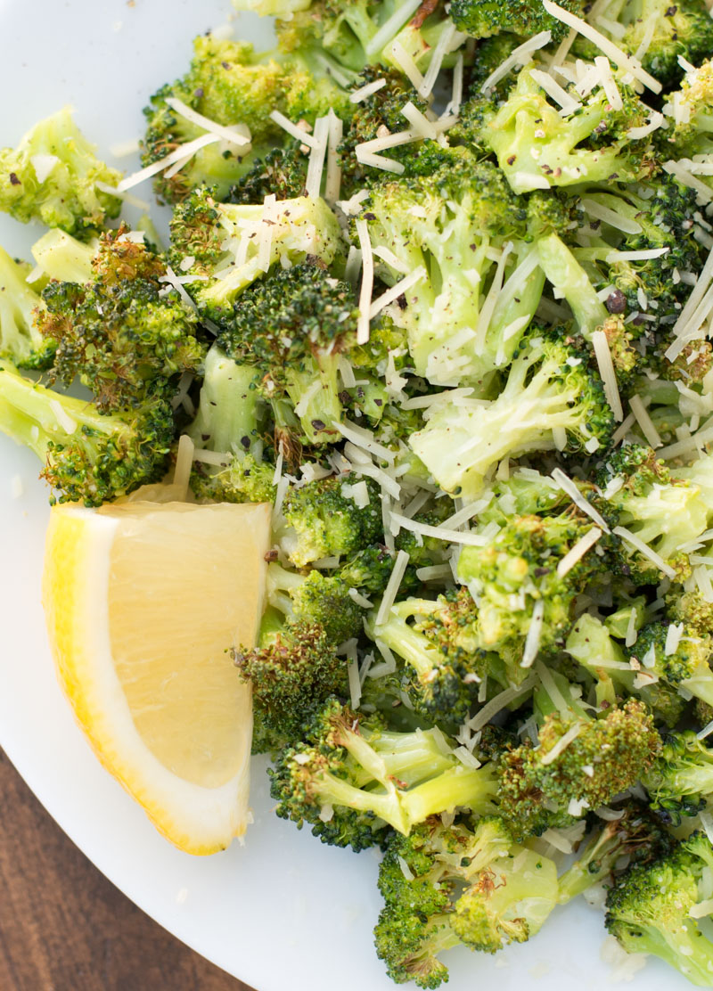 This tender and perfectly crispy Air Fryer Broccoli only takes 8 minutes to make and has three net carbs! This is the perfect low-carb, keto side dish that goes with anything!