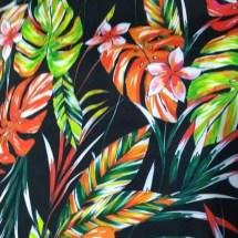Estampa- Folhas coloridas fundo negro- Ref 09.00.39.0.04