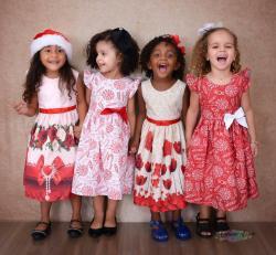 Vestido Natalino Infantil (COD 27.10.19.09 / 10 / 11 / 12)