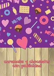 Caramelos y chocolates con publicidad 2017