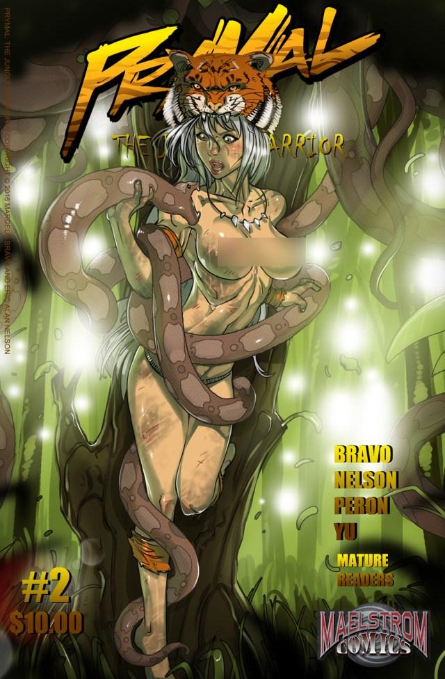 PJWAM Prymal: The Jungle Warrior #2 Nude Cover Edition (3rd Print)