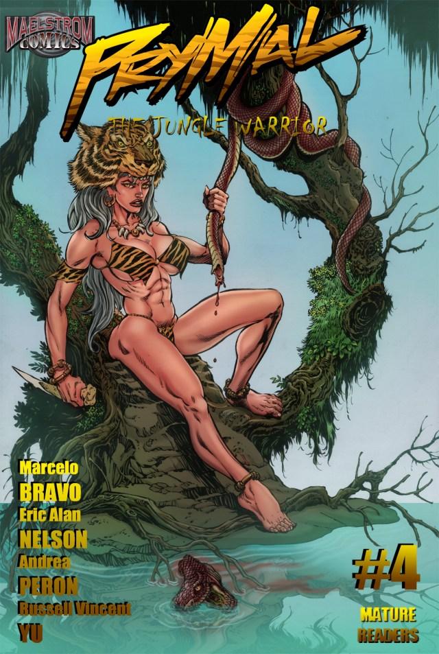 PTJW4TV Prymal: The Jungle Warrior #4 Tim Vigil Cover (2nd Print)