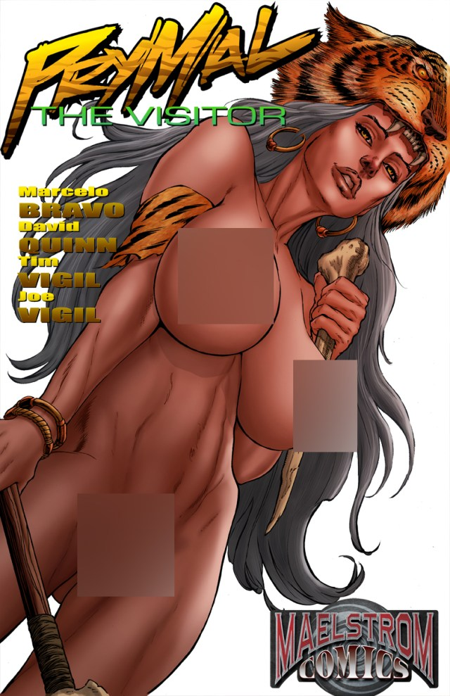 PVNHW Prymal: The Visitor #1 Nude Cover White Cover Signed Edition (2nd Print)