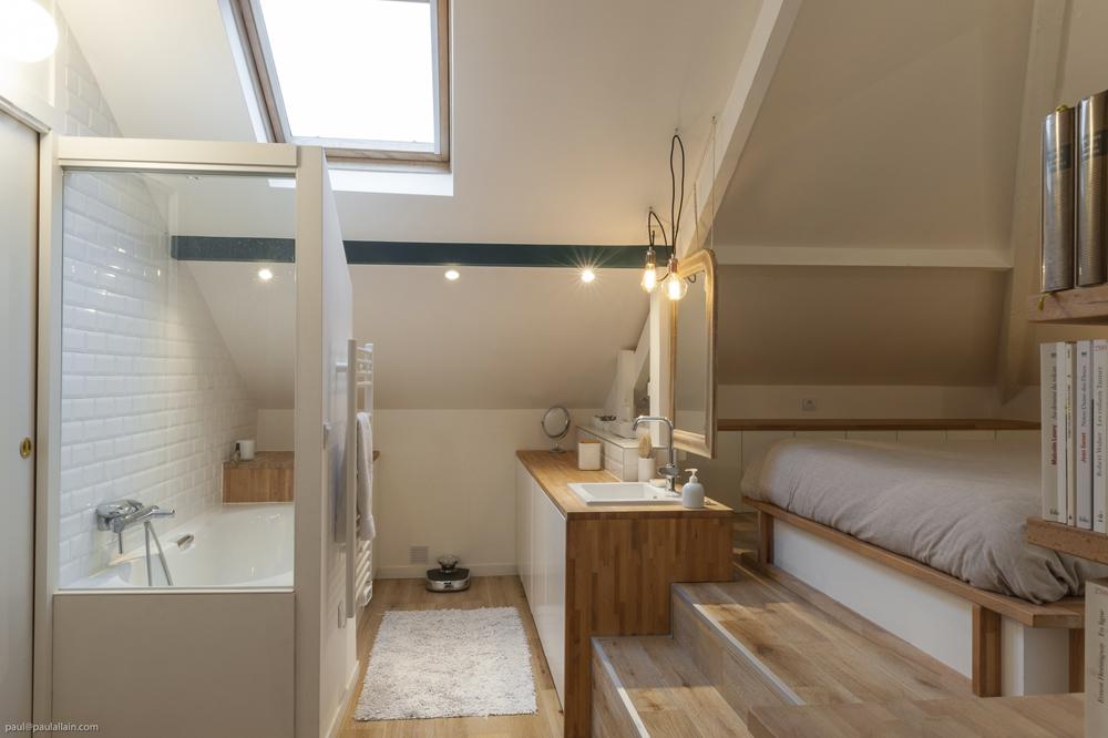 Des Salles De Bain : Sous Les Combles - Maéma Architectes