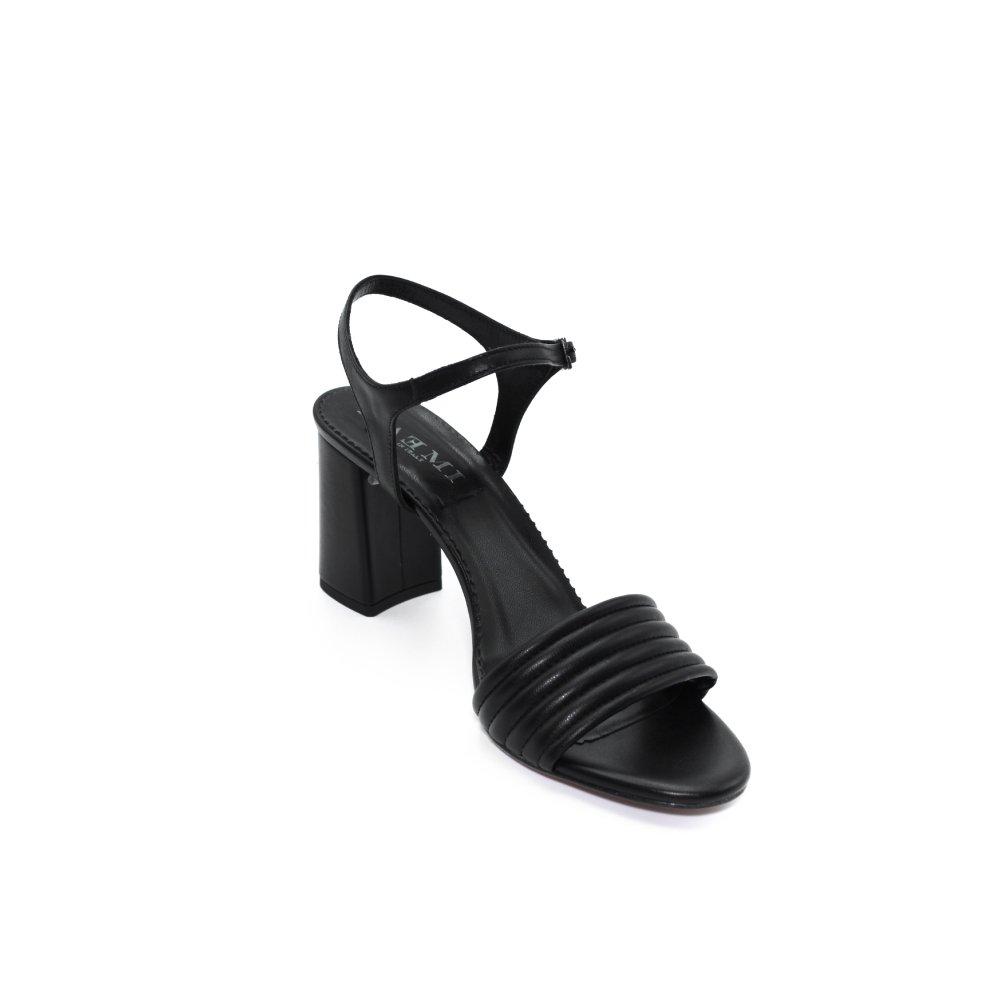 Maemi scarpa da cerimonia tacco 70mm fascia anteriore bombata - nero (3)