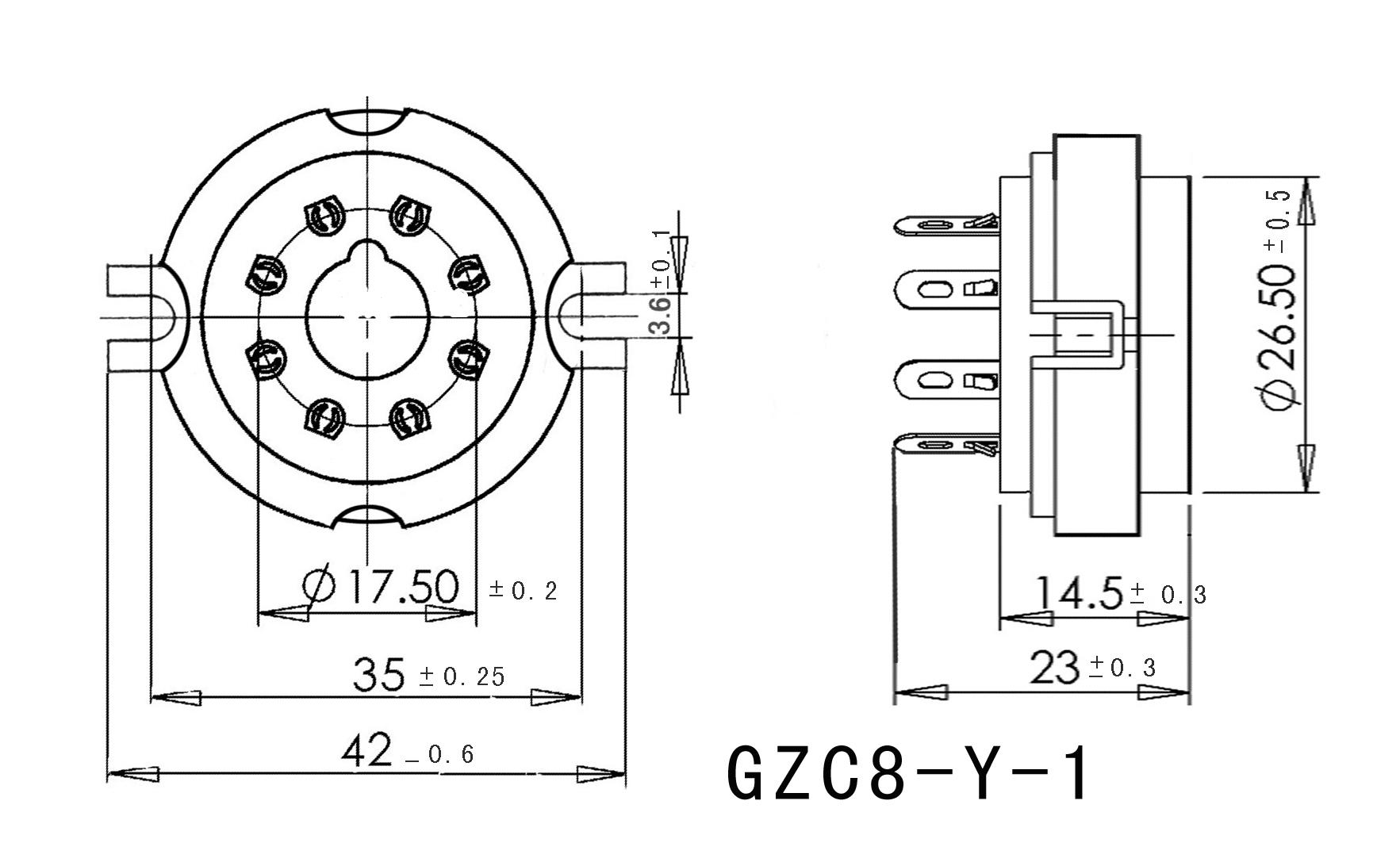 8pin K8a Ceramic Tube Socket Valve Base For Kt88 6ca7 5ar4