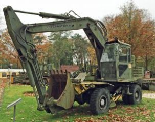 An International wheeled Excavator