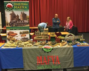 The South Wales MAFVA stand set up on the Friday