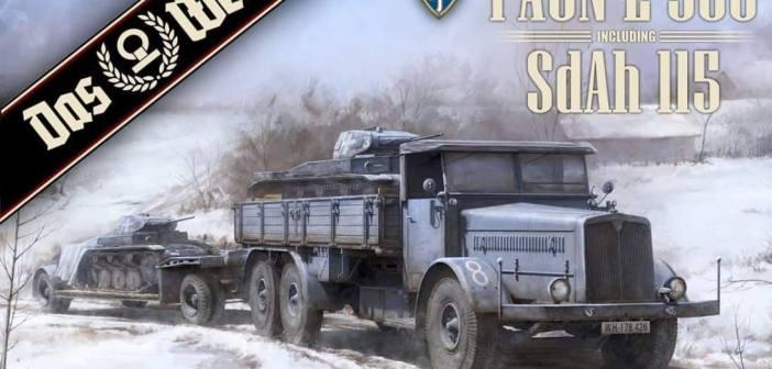 Das Werk's first 1/35th kit – Faun L900 with SdAh. 115 trailer