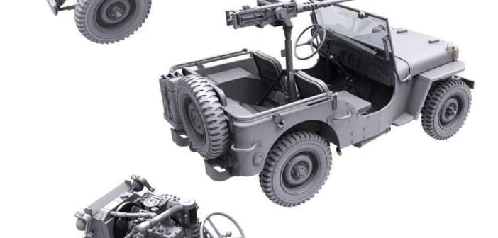 A new 1/35th Jeep kit from Takom