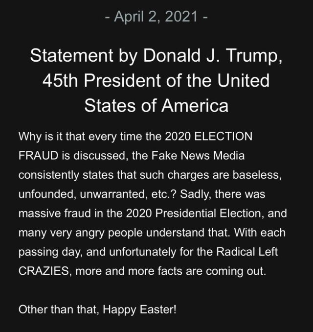BREAKING: President Trump Releases Urgent Statement Over Alleged Election Fraud