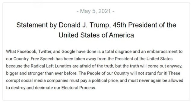"""Trump Reacts To Facebook Ban: """"The Truth Will Come Out Anyway"""""""