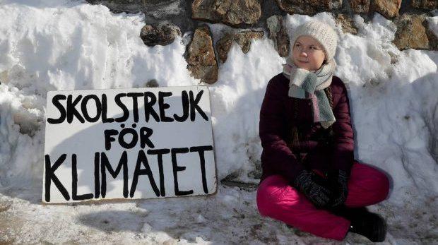 Greta Thunberg agerar i Pippi Långstrumps anda