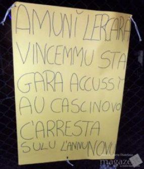 Cartellone Tifosi CF 5 Fair Play Lercara