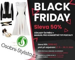 Black friday, sleva soobního stylisty na manual šatníku
