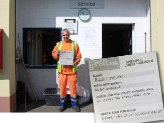 Von Beruf: Depot-Arbeiter. Philippe Roche, der stellvertretend für das Abfallkontrolle-Team beim Kofferraumservice in Frankfurt steht.