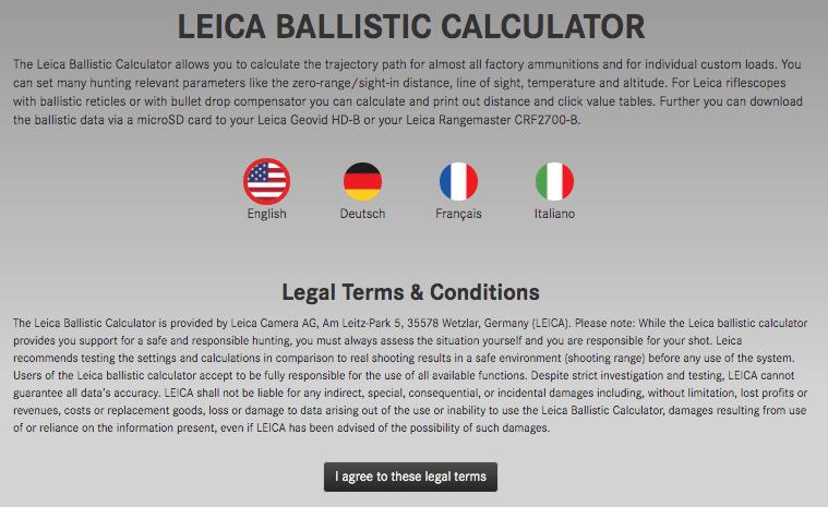 leica ballistic tools