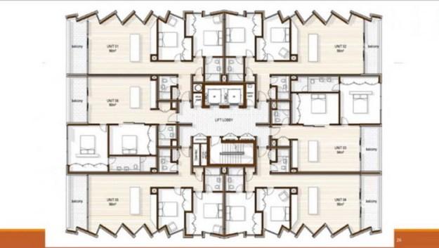 8-этажный жилой дом © ТДА