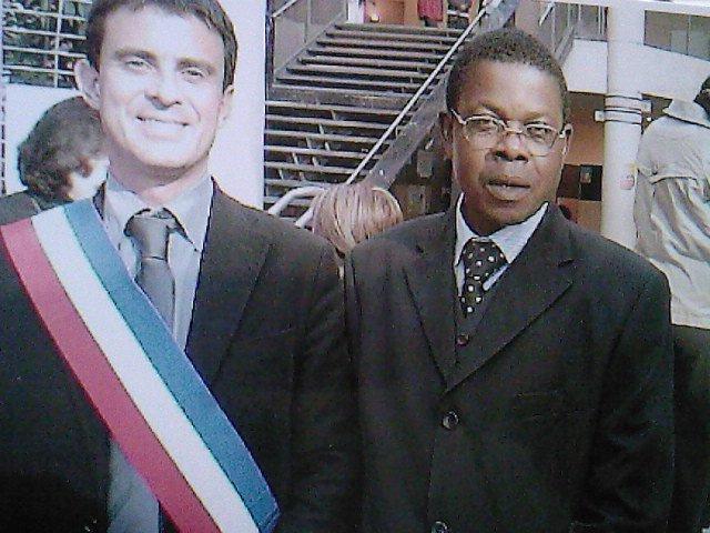 Avec l'homme politique français Manuel Vals