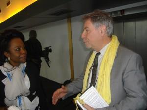 Dr Aurore et Thierry Michel après la conférence.