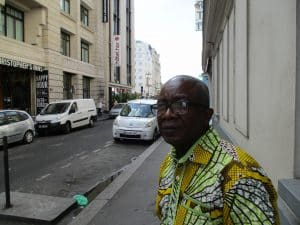 Le conseiller municipal Félix Bokassia: jour de ce reportage à Paris.