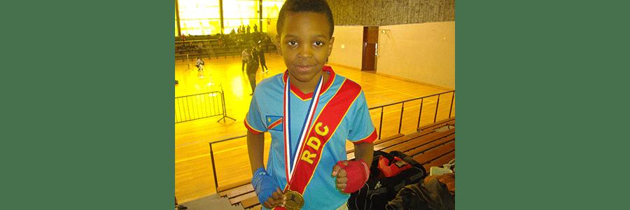 Fred Muzembo,champion français: il porte le Congo en lui.