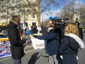 27 février 2015, un résistant congolais avec l'AFP