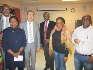 Greg Mukendi, Claire Tawab, Sénateur-Maire Lefevre, Dr Pierre Ntshaykolo, Dédé Mwadjalewo-Kabinda et Marcel Baroani.