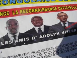 Place de Breteuil, banderole des Combattants congolais
