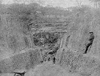 Mine de Shinkolobwe:une vue partielle dans les années 20.