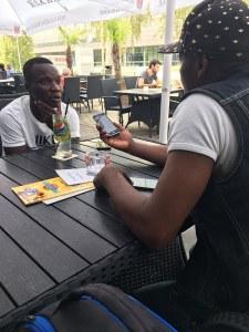 Joueur Chadrac Akolo face à Tungila.