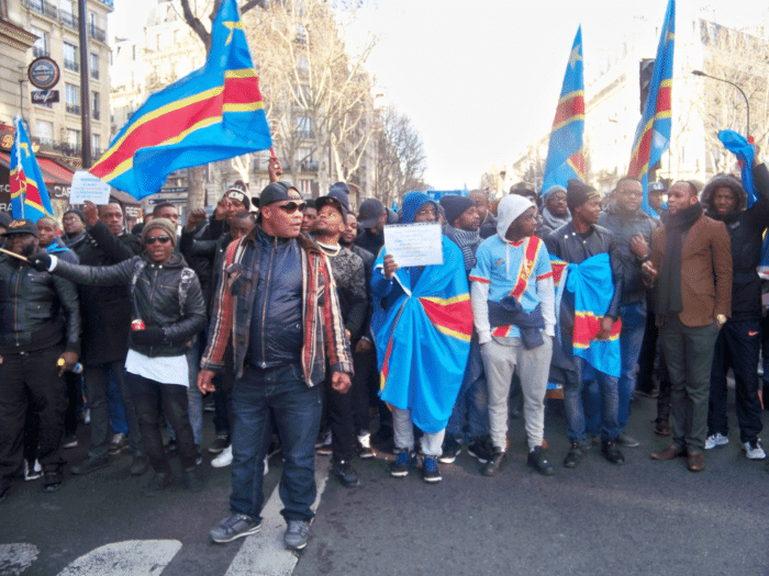 Une manifestation de la diaspora congolaise à Paris (Photo Robert Kongo).