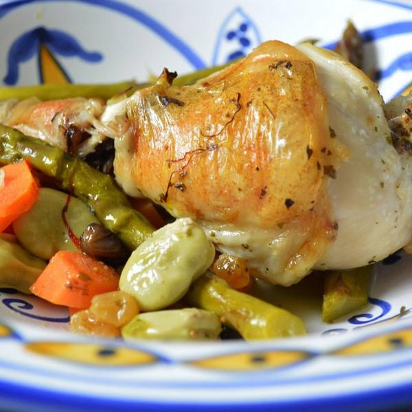 tajine de poulet aux petits legumes