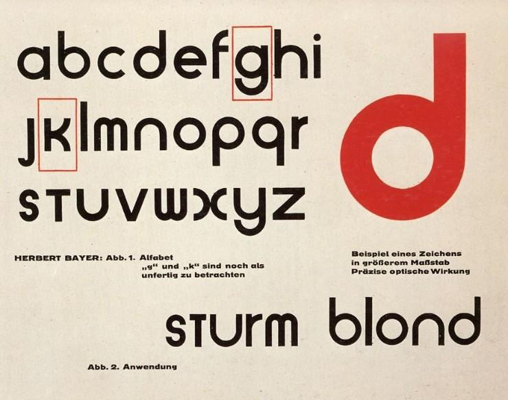 Universal bauhaus typeface