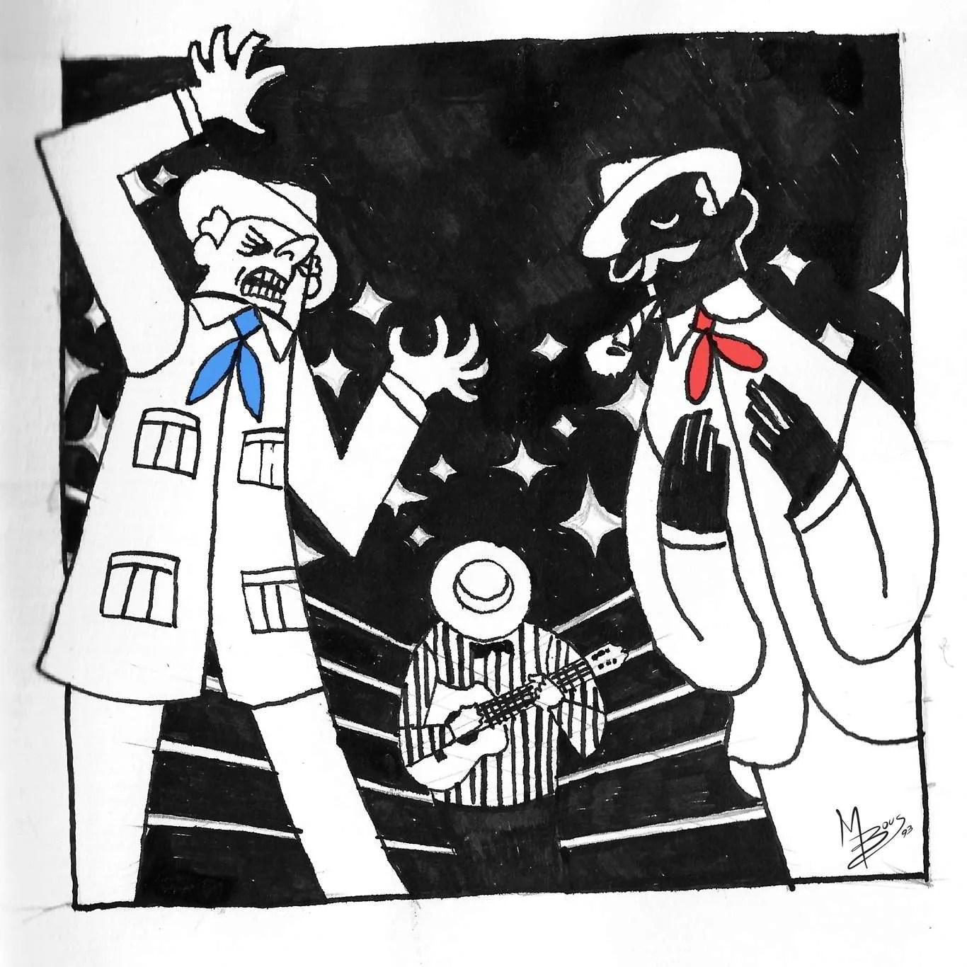 Inktober Día 1: Ring. Ilustración: Mayo Bous / Magazine AM:PM.