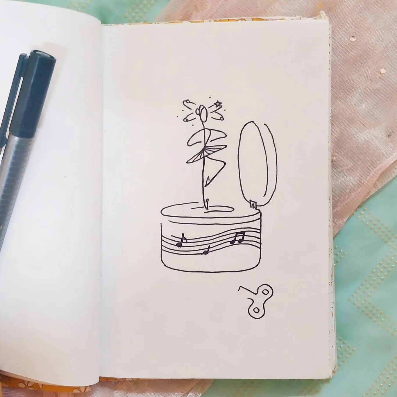 Inktober Día 24: Dizzy. Ilustración: Marlene Patricia Posada Villanueva / Magazine AM:PM.